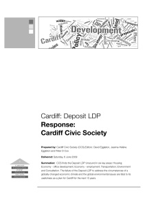 Report by Civic Society on Cardiff Council Deposit LDP
