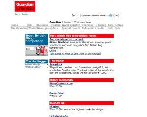 Guardian Blog 2003