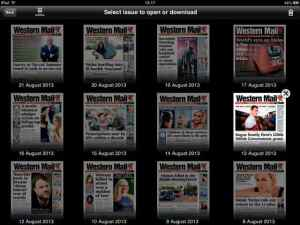 iPad edition front pages The Western Mail